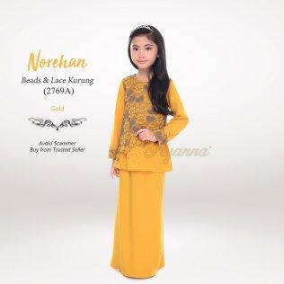 Norehan Beads & Lace Kurung 2769A (Gold)
