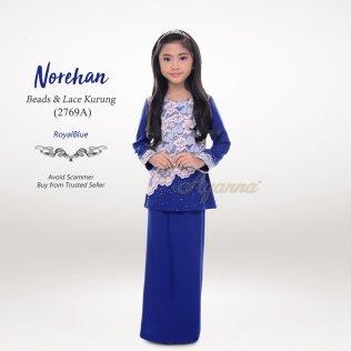 Norehan Beads & Lace Kurung 2769A (RoyalBlue)
