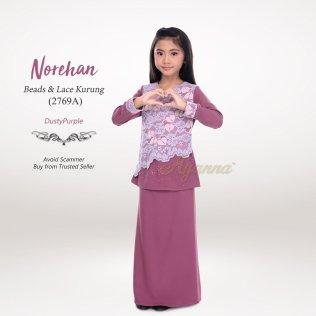 Norehan Beads & Lace Kurung 2769A (DustyPurple)