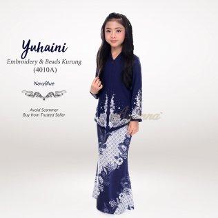 Yuhaini Embroidery & Beads Kurung 4010A (NavyBlue)