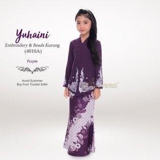 Yuhaini Embroidery & Beads Kurung 4010A (Purple)
