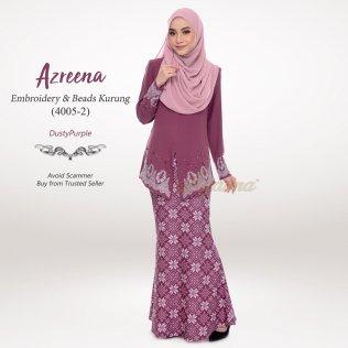 Azreena Embroidery & Beads Kurung 4005-2 (DustyPurple)