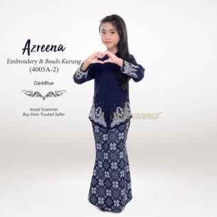 Azreena Embroidery & Beads Kurung 4005A-2 (DarkBlue)