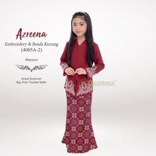 Azreena Embroidery & Beads Kurung 4005A-2 (Maroon)