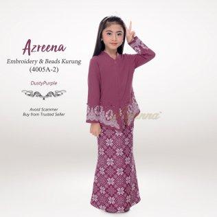 Azreena Embroidery & Beads Kurung 4005A-2 (DustyPurple)