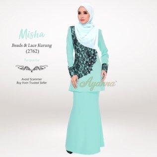 Misha Beads & Lace Kurung 2762 (Turquoise)