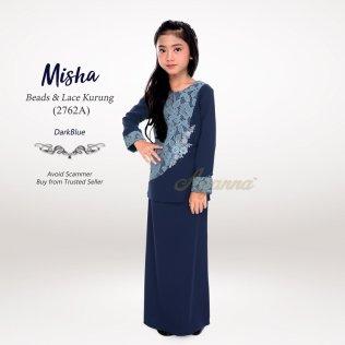 Misha Beads & Lace Kurung 2762A (DarkBlue)