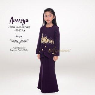 Aneesya Floral Lace Kurung 4017A (Purple)