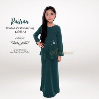 Raihan Beads & Pleated Kurung 2765A (Indicolite)