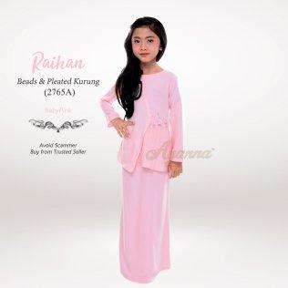 Raihan Beads & Pleated Kurung 2765A (BabyPink)