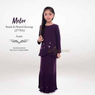 Melor Beads & Pleated Kurung 2778A (Purple)