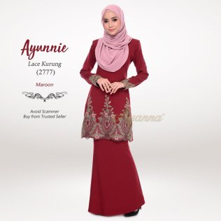 Ayunnie Lace Kurung 2777 (Maroon)