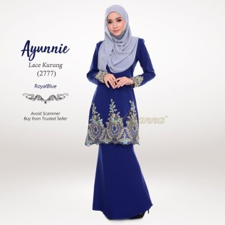 Ayunnie Lace Kurung 2777 (RoyalBlue)