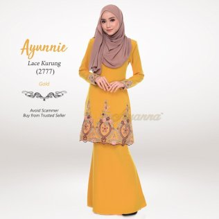 Ayunnie Lace Kurung 2777 (Gold)