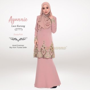 Ayunnie Lace Kurung 2777 (DustyPink)