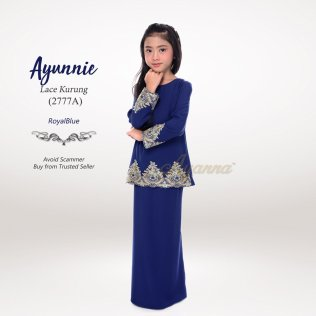 Ayunnie Lace Kurung 2777A (RoyalBlue)
