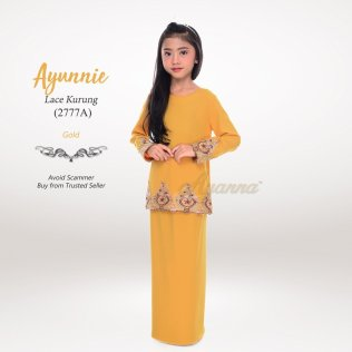 Ayunnie Lace Kurung 2777A (Gold)