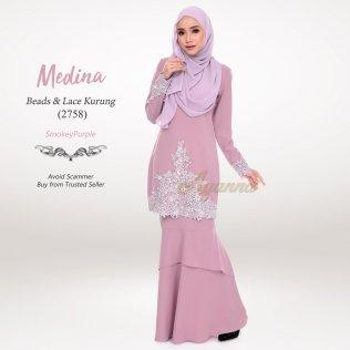 Medina Beads & Lace Kurung 2758 (SmokeyPurple)