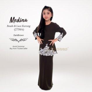 Medina Beads & Lace Kurung 2758A (DarkBrown)