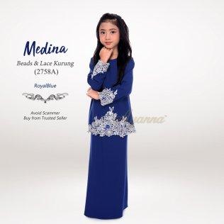 Medina Beads & Lace Kurung 2758A (RoyalBlue)