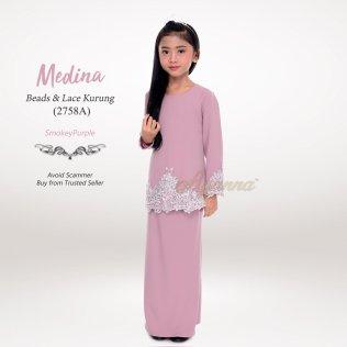 Medina Beads & Lace Kurung 2758A (SmokeyPurple)